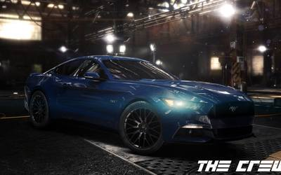 Blue Ford Mustang in The Crew Wallpaper