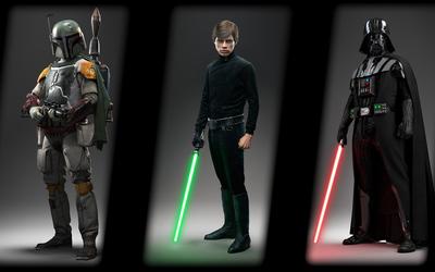 Boba Fett, Luke & Darth Vader - Star Wars Battlefront wallpaper