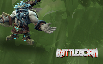 Boldur the Unbearable with his axe - Battleborn wallpaper