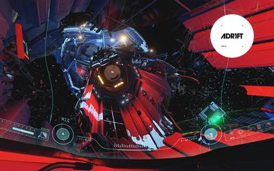 Broken spaceship in ADR1FT Wallpaper