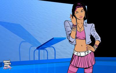 Brunette in Grand Theft Auto: Vice City wallpaper