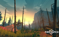 Burn trees in Firewatch wallpaper 1920x1080 jpg