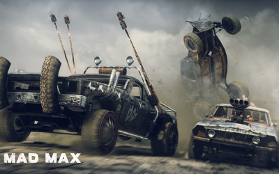 Car battle in Mad Max wallpaper