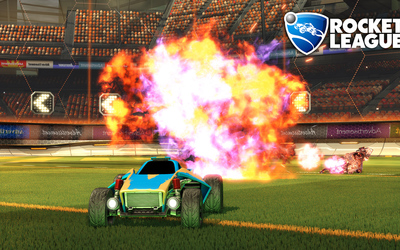 Car exploding in Rocket League wallpaper