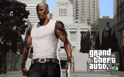 Carl Johnson - Grand Theft Auto V wallpaper
