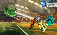 Cars hit by the ball in Rocket League wallpaper 1920x1080 jpg