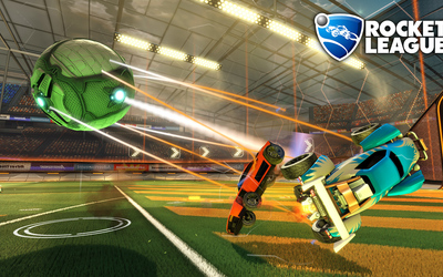 Cars hit by the ball in Rocket League wallpaper