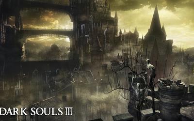 Castle in the fog in Dark Souls III wallpaper