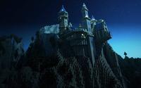 Castle on a cliff in Minecraft wallpaper 1920x1080 jpg
