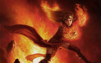 Chandra Nalaar - Magic The Gathering wallpaper 2880x1800 jpg