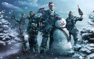 Christmas celebration with Killzone wallpaper