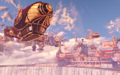 City on the waterfall's edge in BioShock Infinite wallpaper