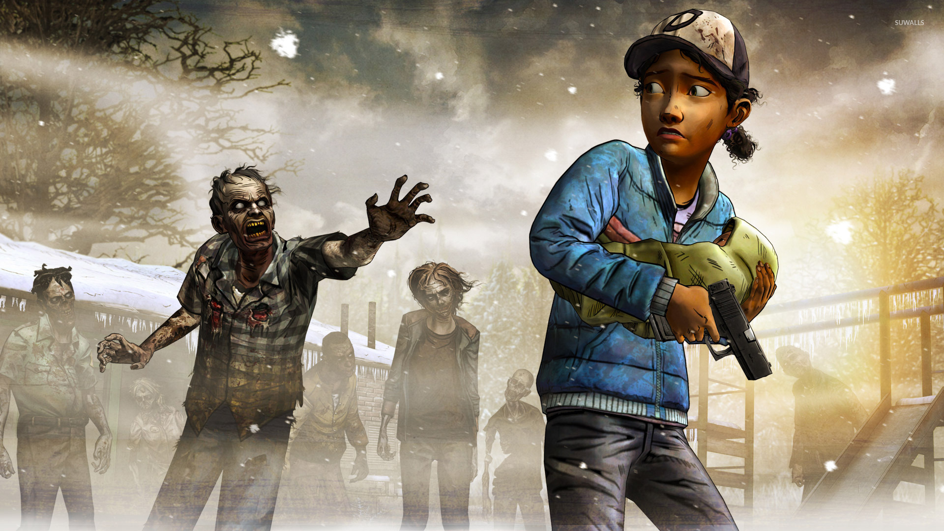 Clementine The Walking Dead Season Two Wallpaper Game