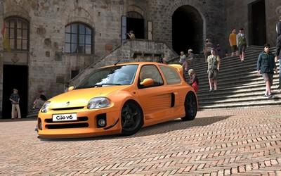 Clio V6 Renault Sport in Gran Turismo wallpaper