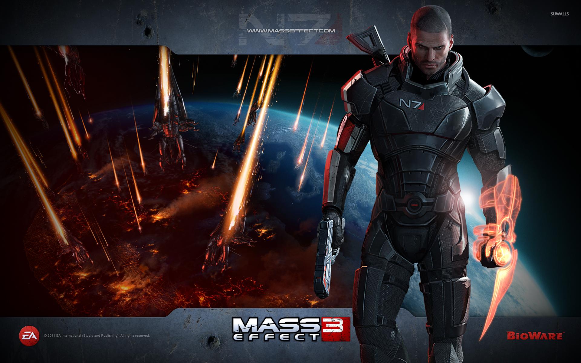 Commander Shepard Mass Effect 3 Wallpaper Game