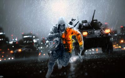 Connor - Battlefield 4 crossover wallpaper