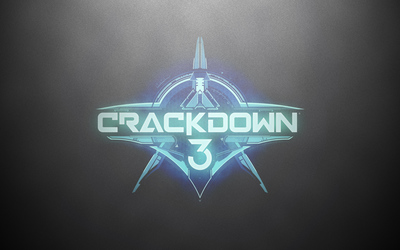 Crackdown 3 logo on a silver wall wallpaper