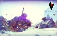 Crashed spaceship in No Man's Sky wallpaper 1920x1080 jpg