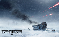 Crashed T-47 snowspeeder in Star Wars Battlefront wallpaper 2560x1600 jpg