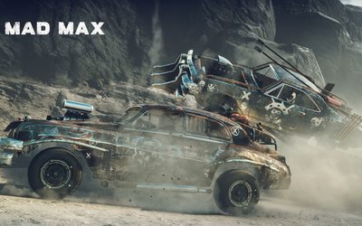 Crashing cars in Mad Max wallpaper