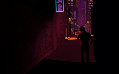 Dark street in The Wolf Among Us wallpaper