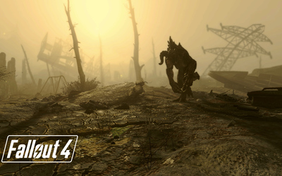 Deathclaw in Fallout 4 wallpaper