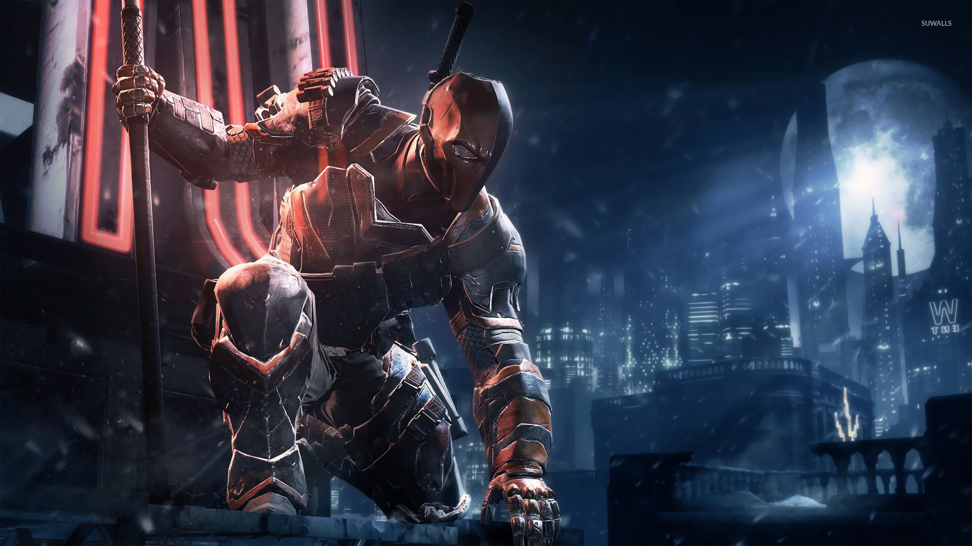 Deathstroke Batman Arkham Origins Wallpaper Game Wallpapers