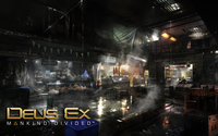 Deserted market in Deus Ex: Mankind Divided wallpaper 1920x1200 jpg