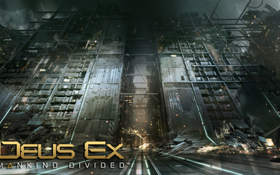 Destroyed buildings in Deus Ex: Mankind Divided wallpaper