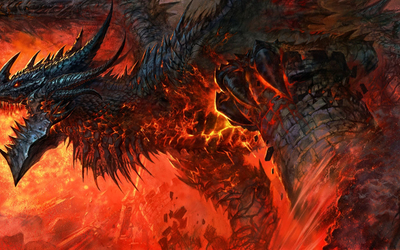 Dragon destroying a castle in World of Warcraft: Cataclysm wallpaper