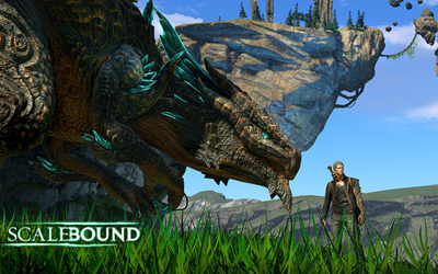 Drew and Thuban in Scalebound wallpaper