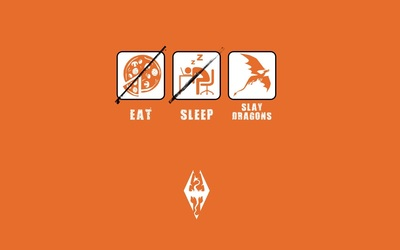 Eat, sleep, slay dragons wallpaper