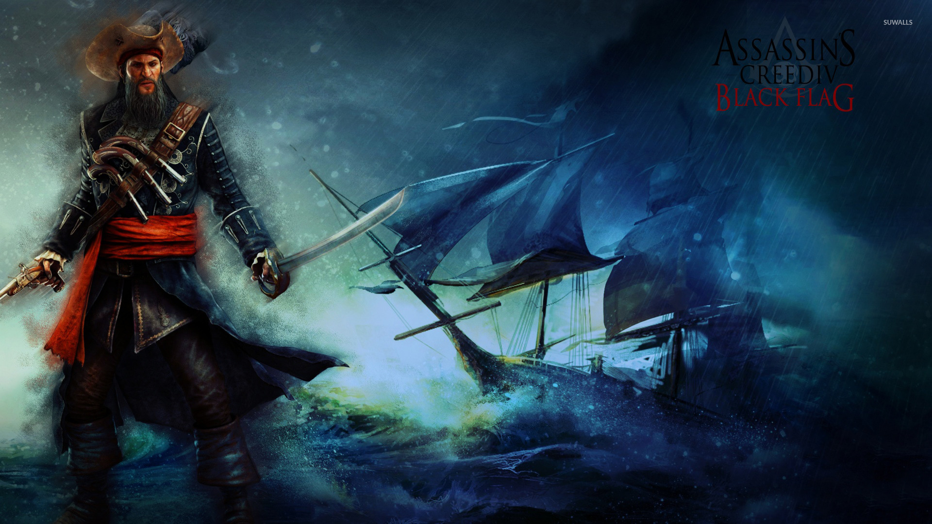 Edward Thatch Assassin S Creed Iv Black Flag Wallpaper Game