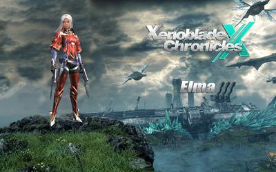 Elma on a cliff - Xenoblade Chronicles X wallpaper