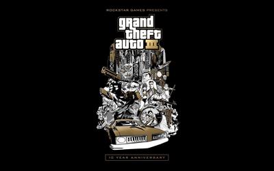 Felons of Grand Theft Auto III wallpaper