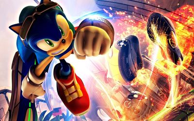 Fighting Sonic the Hedgehog wallpaper