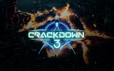 Fire in the city in Crackdown 3 wallpaper