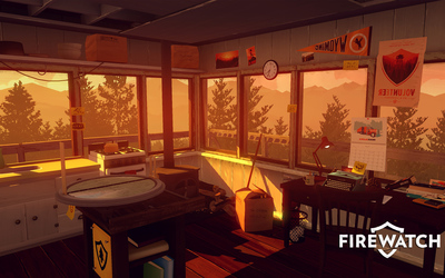 Fire lookout tower interior - Firewatch wallpaper