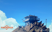 Fire lookout tower on the cliff - Firewatch wallpaper 1920x1080 jpg