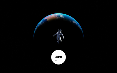 Floating in outer space in ADR1FT wallpaper