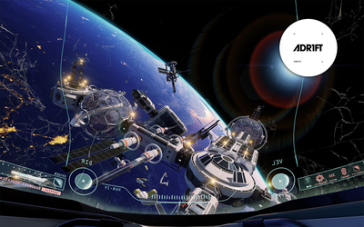 Floating over Earth in ADR1FT wallpaper