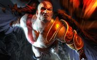 Flying Kratos in God of War wallpaper 1920x1200 jpg