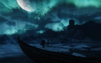 Frozen lake in The Elder Scrolls V: Skyrim wallpaper 1920x1080 jpg