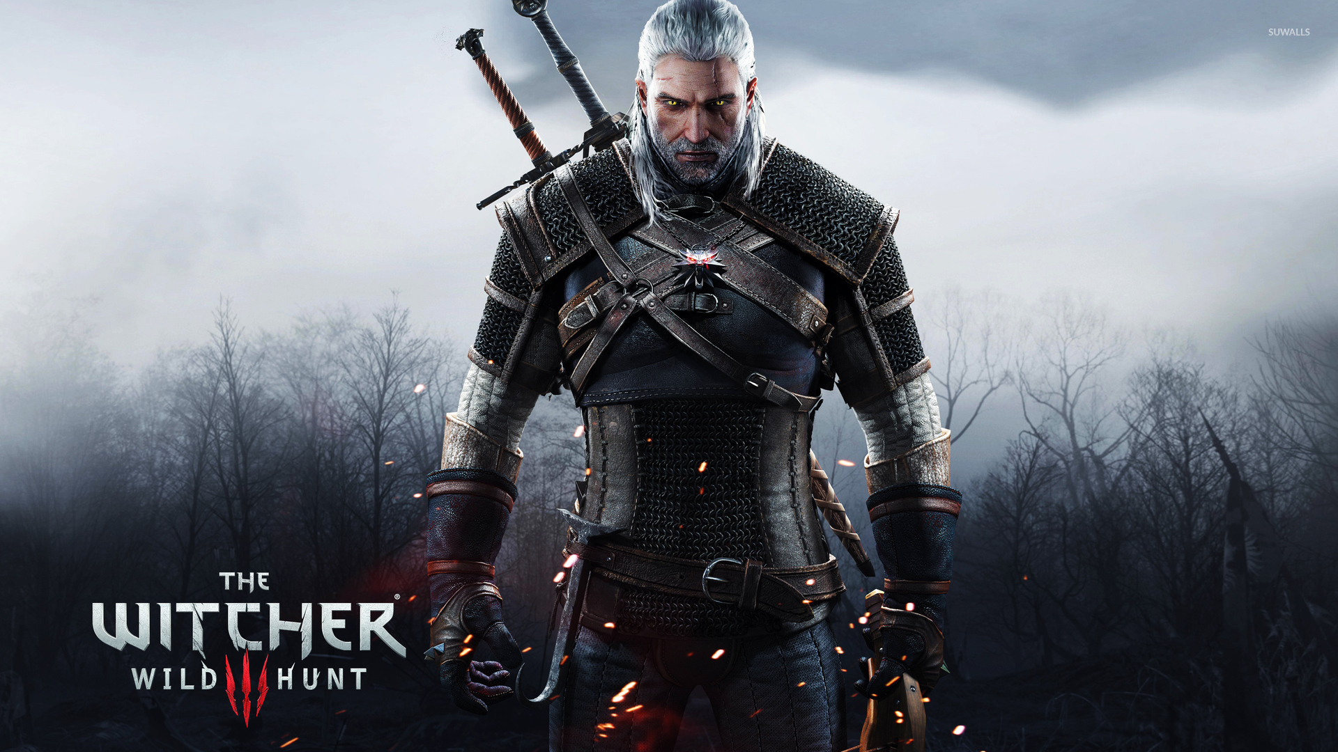 geralt holding a crossbow the witcher 3 wild hunt