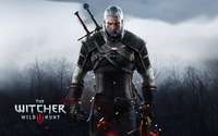 Geralt holding a crossbow - The Witcher 3: Wild Hunt wallpaper 2880x1800 jpg