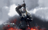 Geralt taking his sword out - The Witcher 3: Wild Hunt wallpaper 2880x1800 jpg