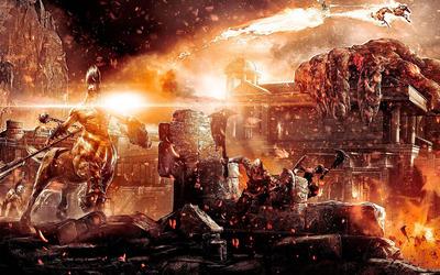 God of War battle Wallpaper