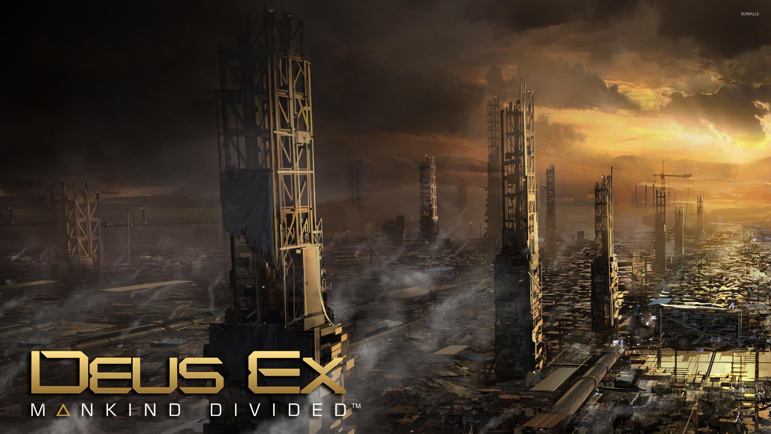 Golden Sunset In Deus Ex Mankind Divided Wallpaper