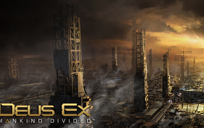 Golden sunset in Deus Ex: Mankind Divided wallpaper