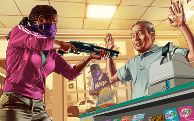 Grand Theft Auto robbery wallpaper